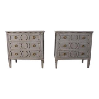 20th Century Swedish Gustavian Style Nightstands - A Pair For Sale