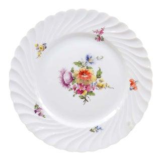 Vintage Nymphenburg Dresden Flowers Dinner Plate