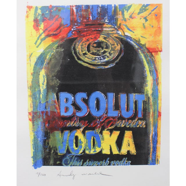 Vintage Andy Warhol Lithograph Absolut Vodka For Sale In West Palm - Image 6 of 8