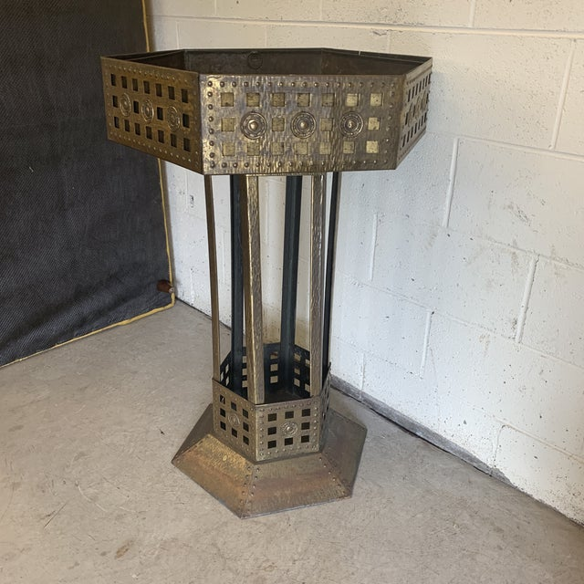Unusual Medieval Standing Brass Planter or Bar For Sale - Image 9 of 13
