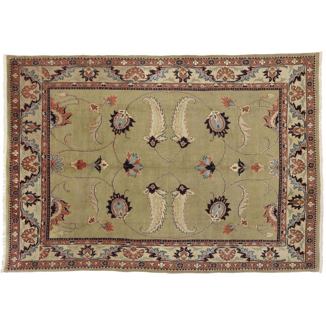 Vintage Persian Mahal Rug Inspired by William Morris - 08'05 X 12'00 For Sale In Dallas - Image 6 of 6
