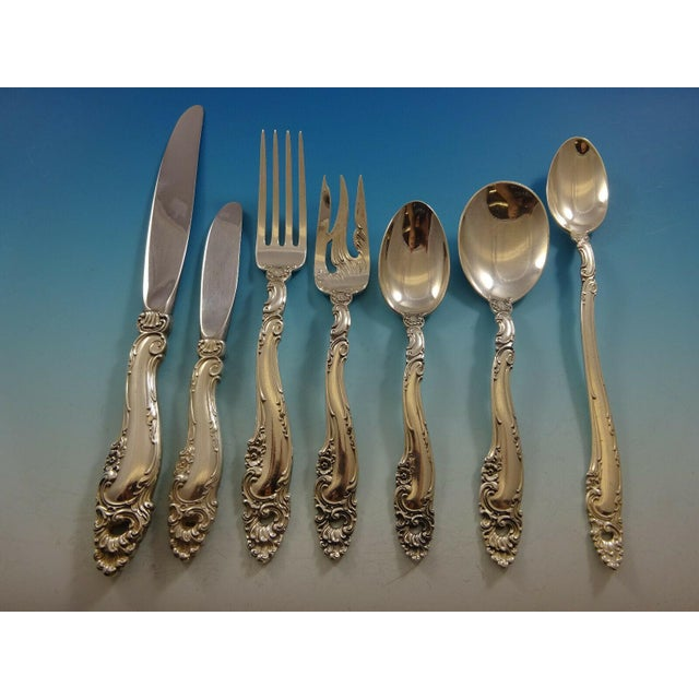 Gorham Decor by Gorham Sterling Silver Flatware Set for 18 Service - 132 Pieces For Sale - Image 4 of 12