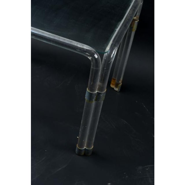 Charles Hollis Jones Lucite Side Table Attributed to Charles Hollis Jones For Sale - Image 4 of 10