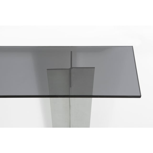 Pace Smoked Glass Console Table - Image 6 of 6