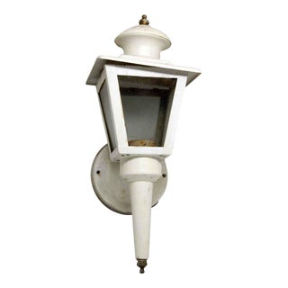 White Outdoor Lantern Sconce For Sale