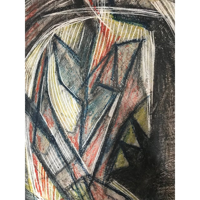 1950s 1950s Cubist Abstract Male Portrait Painting For Sale - Image 5 of 8