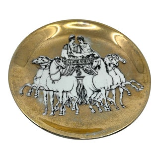 Vintage Fornasetti Small Horse and Carriage Coaster/ Dish For Sale