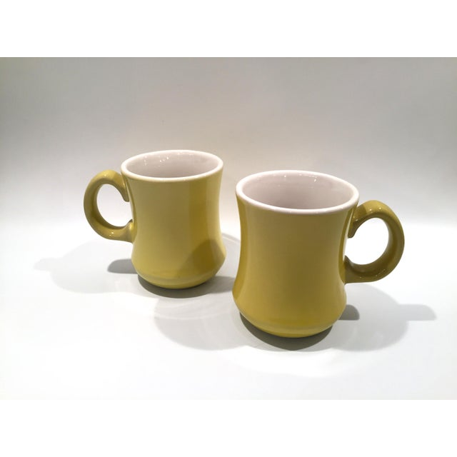 Mid-Century Green Mugs - A Pair - Image 2 of 6