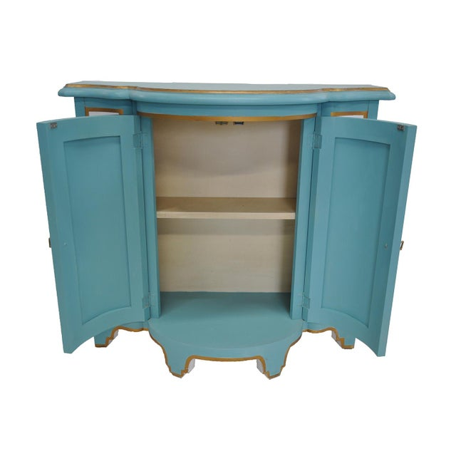 Baker-Style Demilune Cabinet For Sale - Image 5 of 8