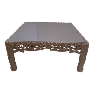 An Italian Sculpted Wood Coffee Table