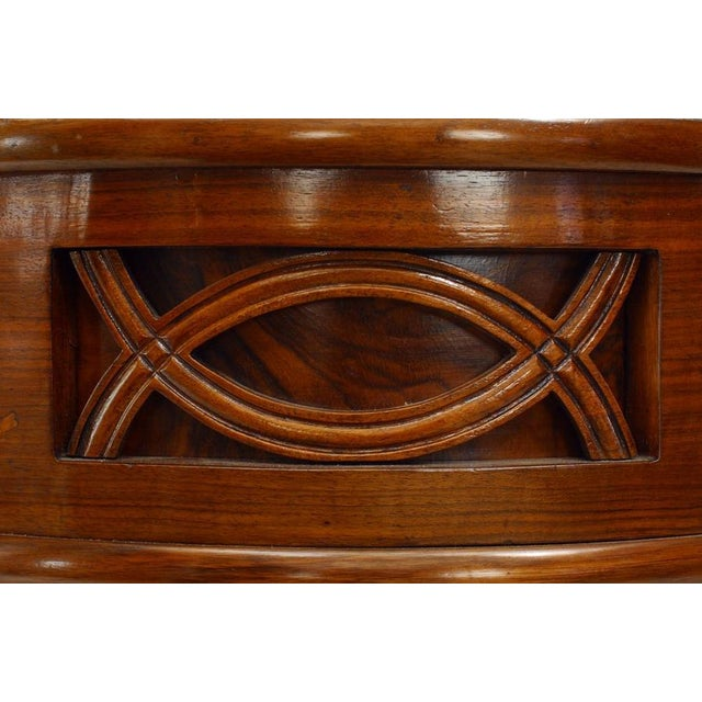 1930s Italian Art Deco Rosewood Console Table For Sale In New York - Image 6 of 7