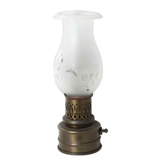 Colonial Style Brass Sconce With Glass Shade For Sale