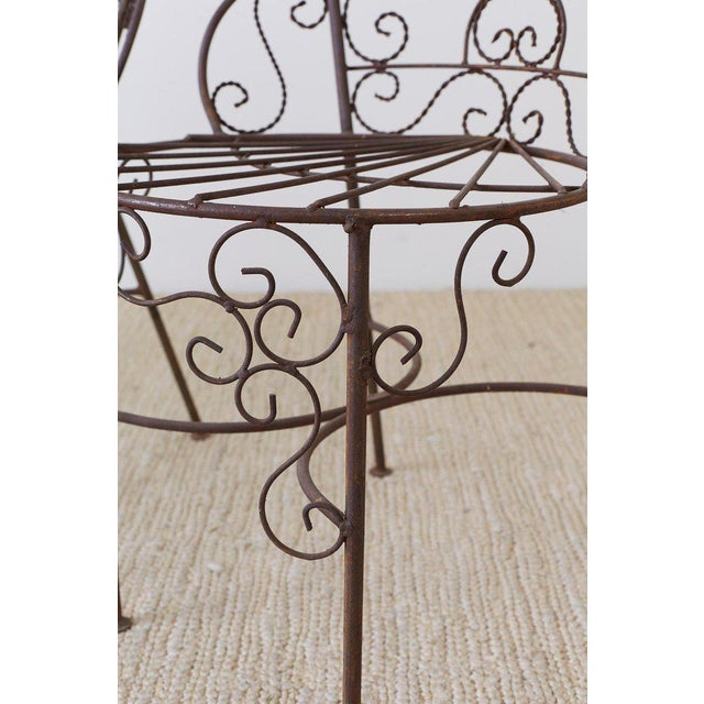 Salterini Style Iron Fan Back Garden Patio Chairs For Sale In San Francisco - Image 6 of 13