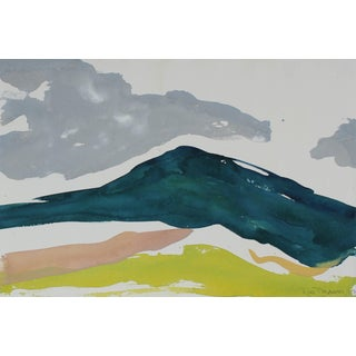 """Rob Delamater """"Hills of the Champagne Region Iii"""" Gouache on Paper, 2017 For Sale"""