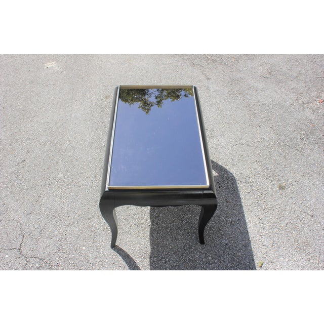 1940s 1940s French Art Deco Ebonized Coffee Table For Sale - Image 5 of 13