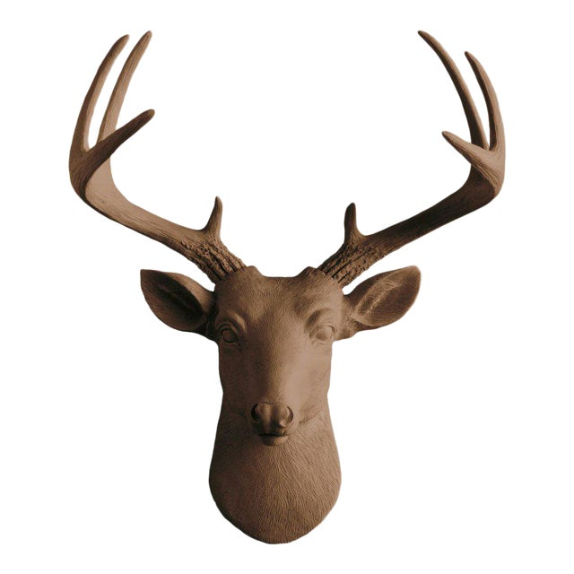 Wall Charmers Bronze Faux Taxidermy Mini Deer Head Mount - Image 1 of 5