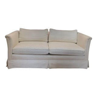 1980s Henredon Cream Color Loveseat For Sale