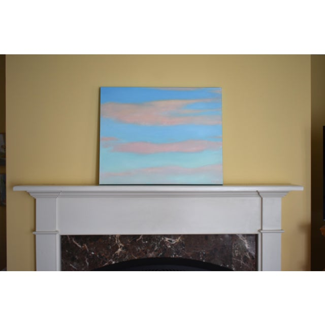 """Abstract """"Layered Clouds"""" Contemporary Painting by Stephen Remick For Sale - Image 3 of 11"""