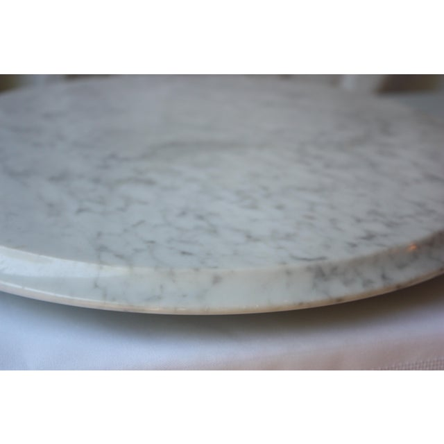 Contemporary Round Marble Cutting Board For Sale - Image 3 of 3