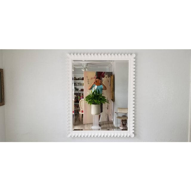Marge Carson Scalloped Wall Mirror . For Sale - Image 9 of 9