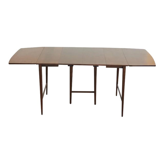 Extendable Drop-Leaf Maple Dining Table by Paul McCobb for Planner Group For Sale