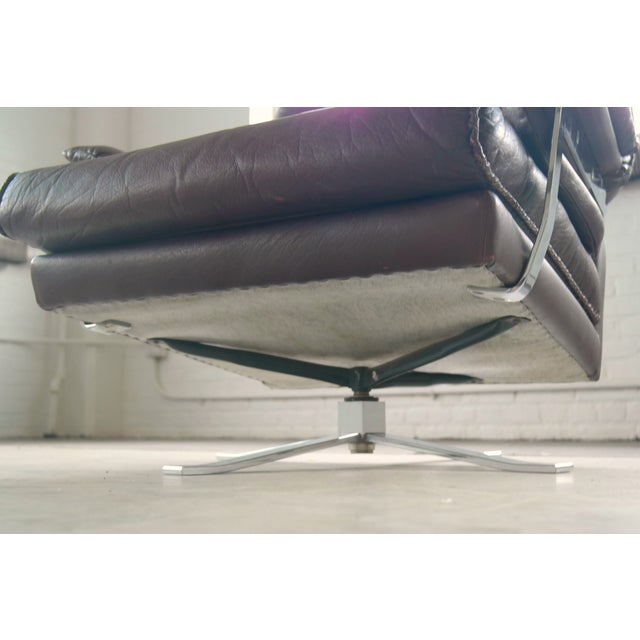 Arne Norell Hand-Stitched Leather Lounge Chair - Image 10 of 10