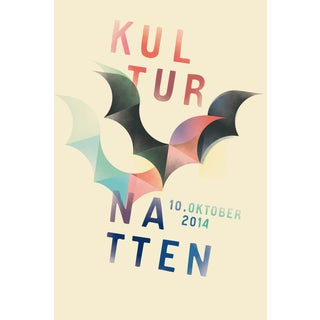 Mads Berg 'Kultur Natten' Danish Poster For Sale