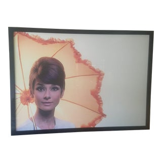 Framed Audrey Hepburn Poster For Sale