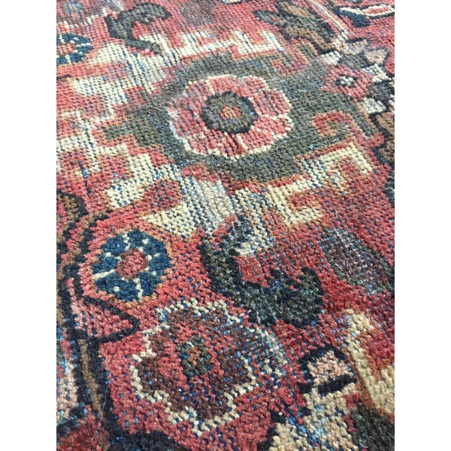 1930s Vintage Distressed Persian Meshkabad Rug - 10′4″ × 13′6″ For Sale - Image 4 of 13
