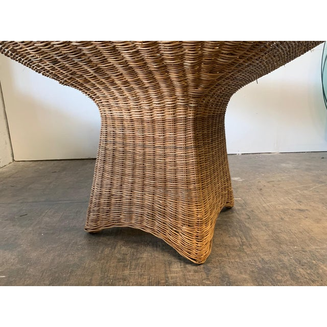 Sculptural Wicker Dining Table For Sale - Image 4 of 7