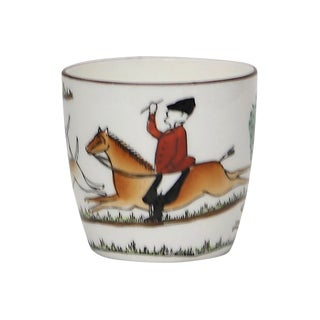 English Hunting Scene Shot Glass For Sale