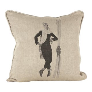 Ready for the Slopes Linen Pillow For Sale