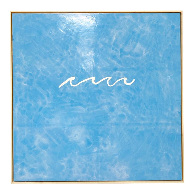 "John O'Hara ""Wave"" Encaustic Painting For Sale"