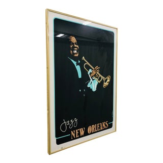 Vintage Lithograph Jazz Print For Sale