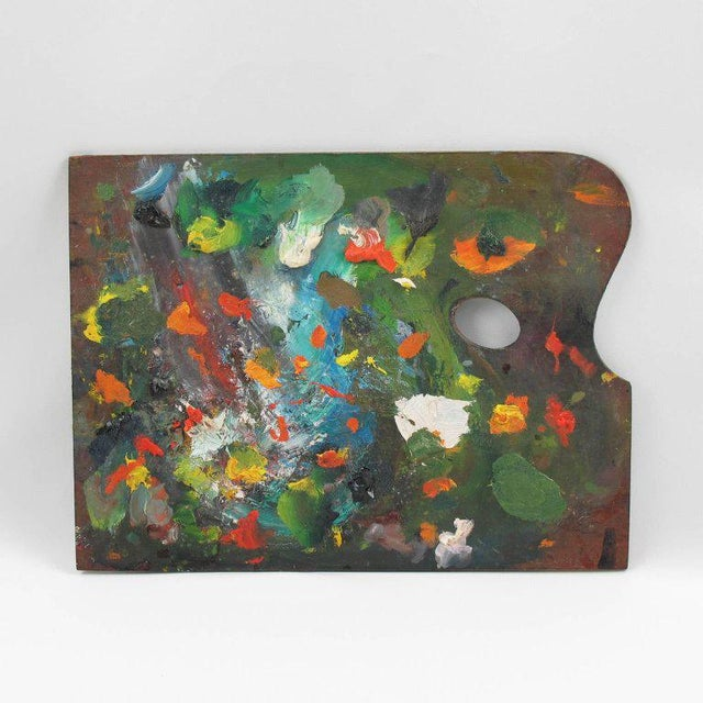 Mid-Century French Artist Painter Wood Paint Palette - Image 2 of 6