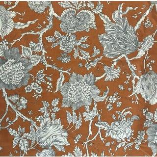 Robert Allen Blooming Tree on Orange Decorator Fabric - 12 Yards For Sale