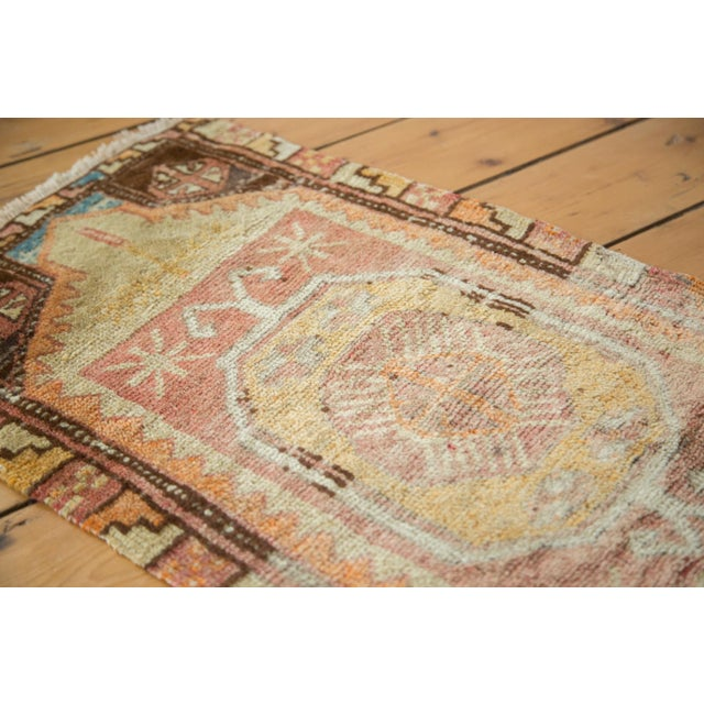 "Vintage Oushak Distressed Rug - 1'6"" x 2'10"" - Image 5 of 6"