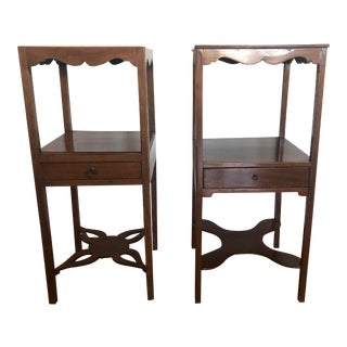 Early 19th Century Georgian Mahogany Side Tables-a Pair For Sale