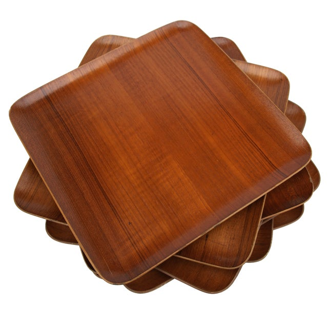 Mid-Century Teak Trays - Set of 7 - Image 1 of 8