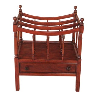 Traditional Classic Mahogany Book Stand For Sale