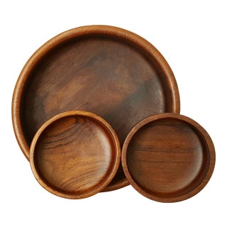 Teak Serving Bowl Set