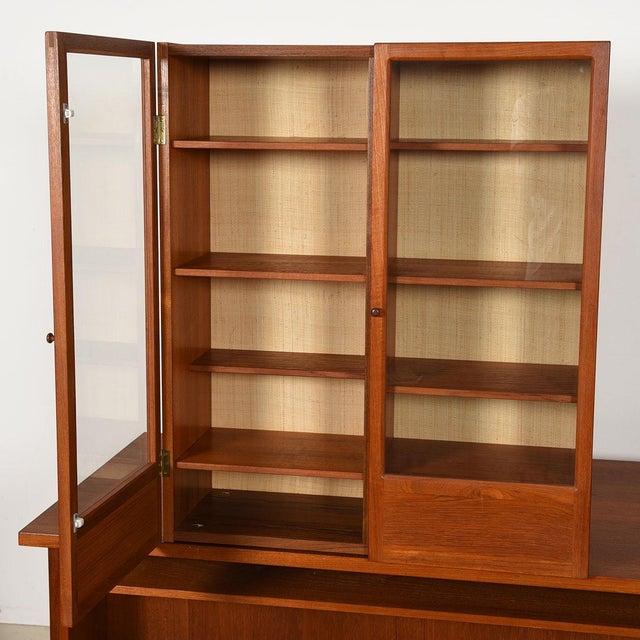 Randers Møbelfabrik Danish Modern Teak Hanging Display Cabinet With Glass Doors For Sale - Image 4 of 8