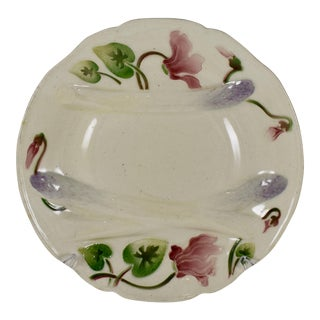 K&g St. Clément French Faïence Cyclamen Asparagus Plate For Sale