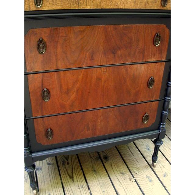Walnut National Furniture Company Heirloom Walnut Highboy Dresser For Sale - Image 7 of 11