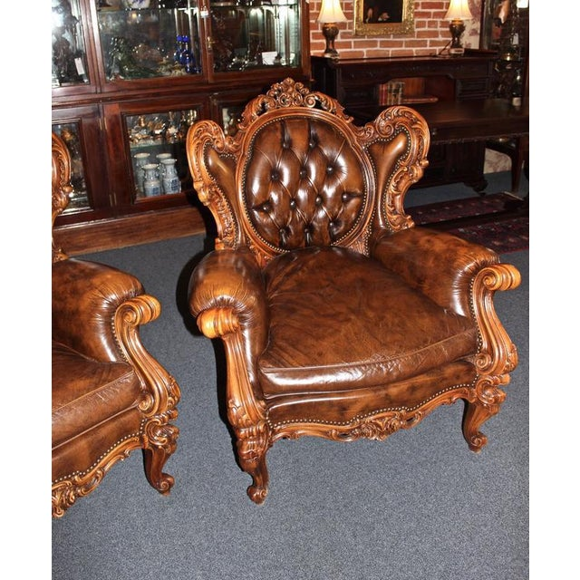 Antique French Rococo Parlor Set - Set of 3 For Sale - Image 4 of 9