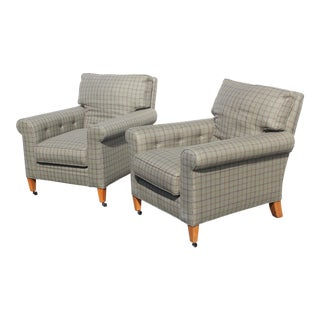 Ralph Lauren Home Traditional Club Chairs - a Pair For Sale
