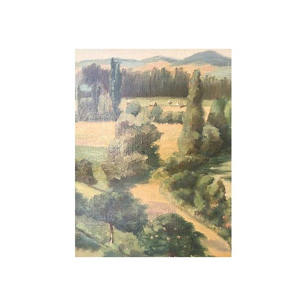 1955 French Landscape Oil Painting - Image 5 of 8