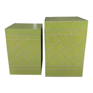 Palm Beach Regency Style Side Tables For Sale