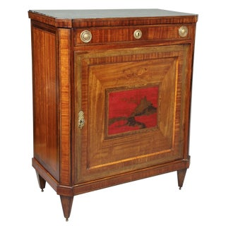 Dutch Neoclassical Satinwood and Japanned Cabinet For Sale