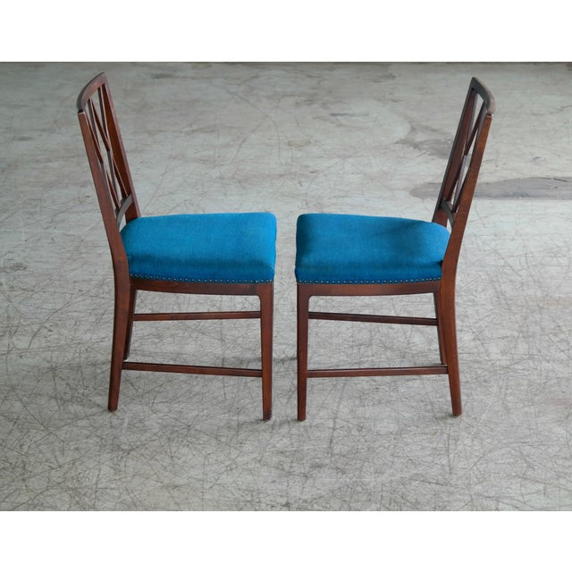 Set of Ten Danish Chairs in Rosewood Stained Beech Attributed to Ole Wanscher For Sale In New York - Image 6 of 10